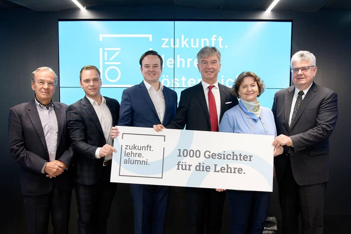 Presskonferenz zur Stärkung der Lehre - zukunft.lehre.österreich. mobilisiert 1.000 Gesichter