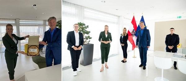 Austausch mit Arbeitsministerin Mag. (FH) Aschbacher