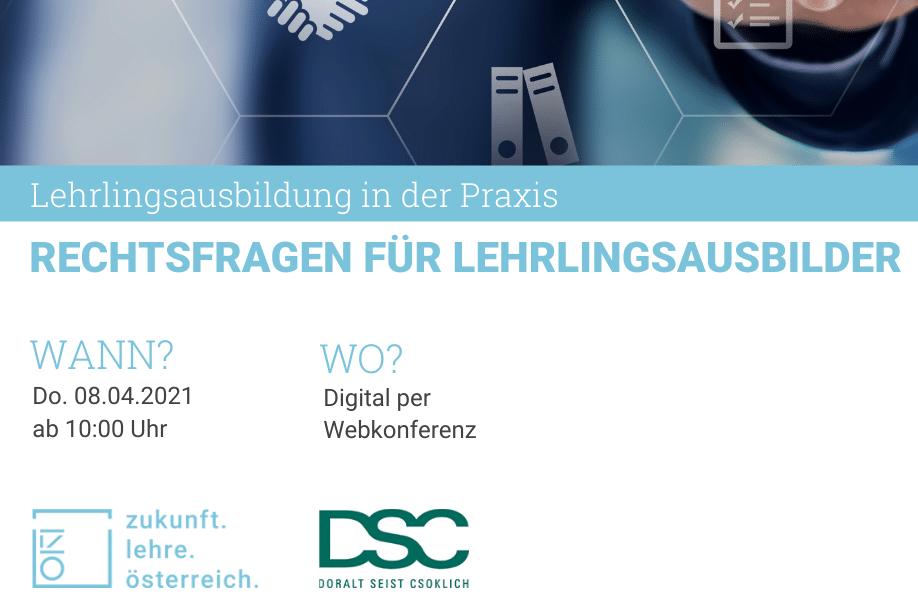 """Review Webinar """"Rechtsfragen für Lehrlingsausbilder"""""""