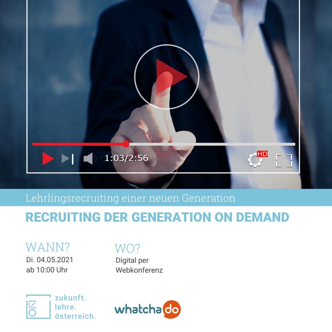 """Webinar """"Recruiting der Generation on Demand"""""""