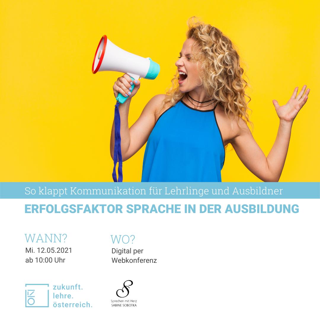 """Webinar """"Erfolgsfaktor Sprache in der Ausbildung"""""""